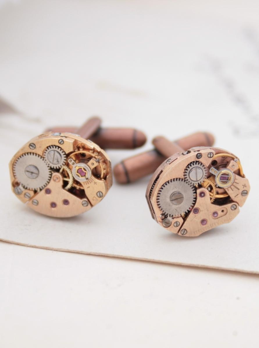 copper cuff links
