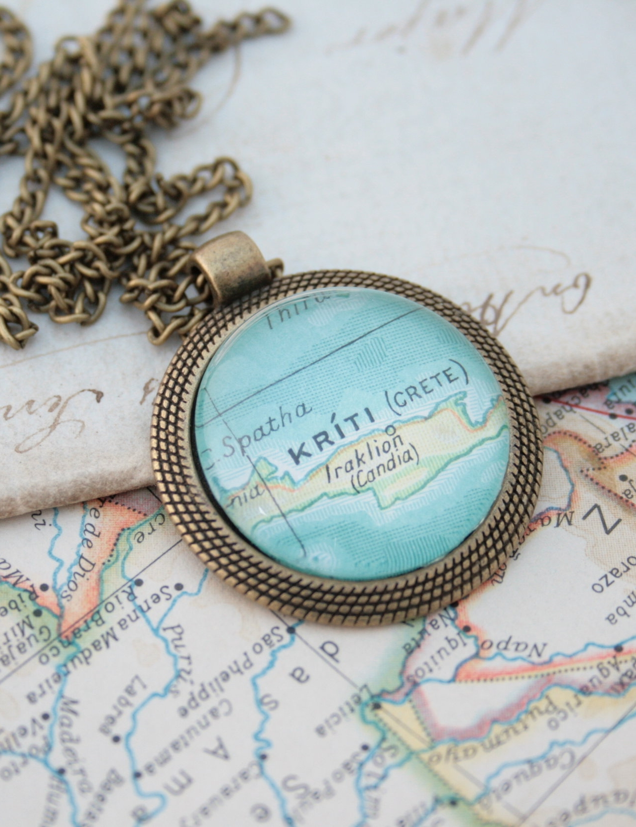 map necklace / personalized jewellery