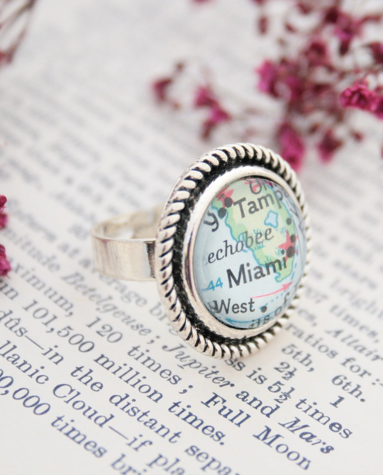 statement map ring / daughter jewellery gift