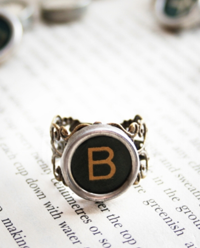personalized monogram ring