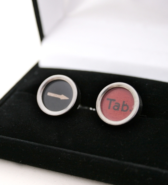custom cufflinks with typewriter keys
