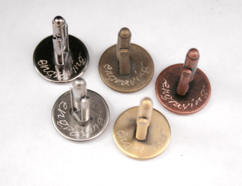engraving on cufflinks