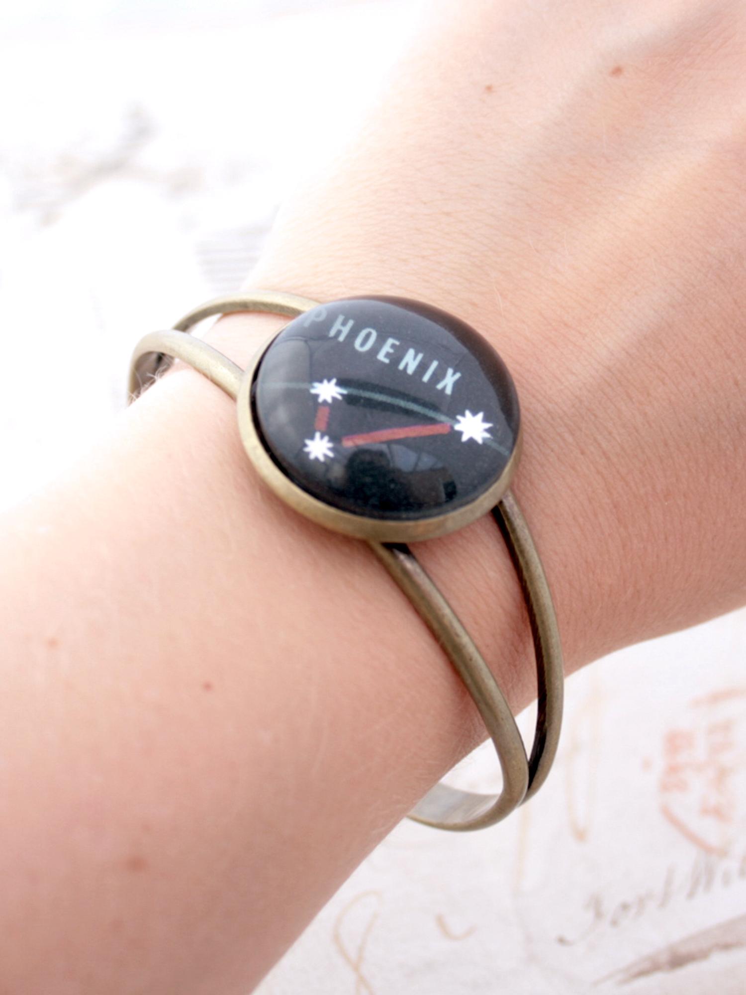 Phoenix constellation bangle bracelet
