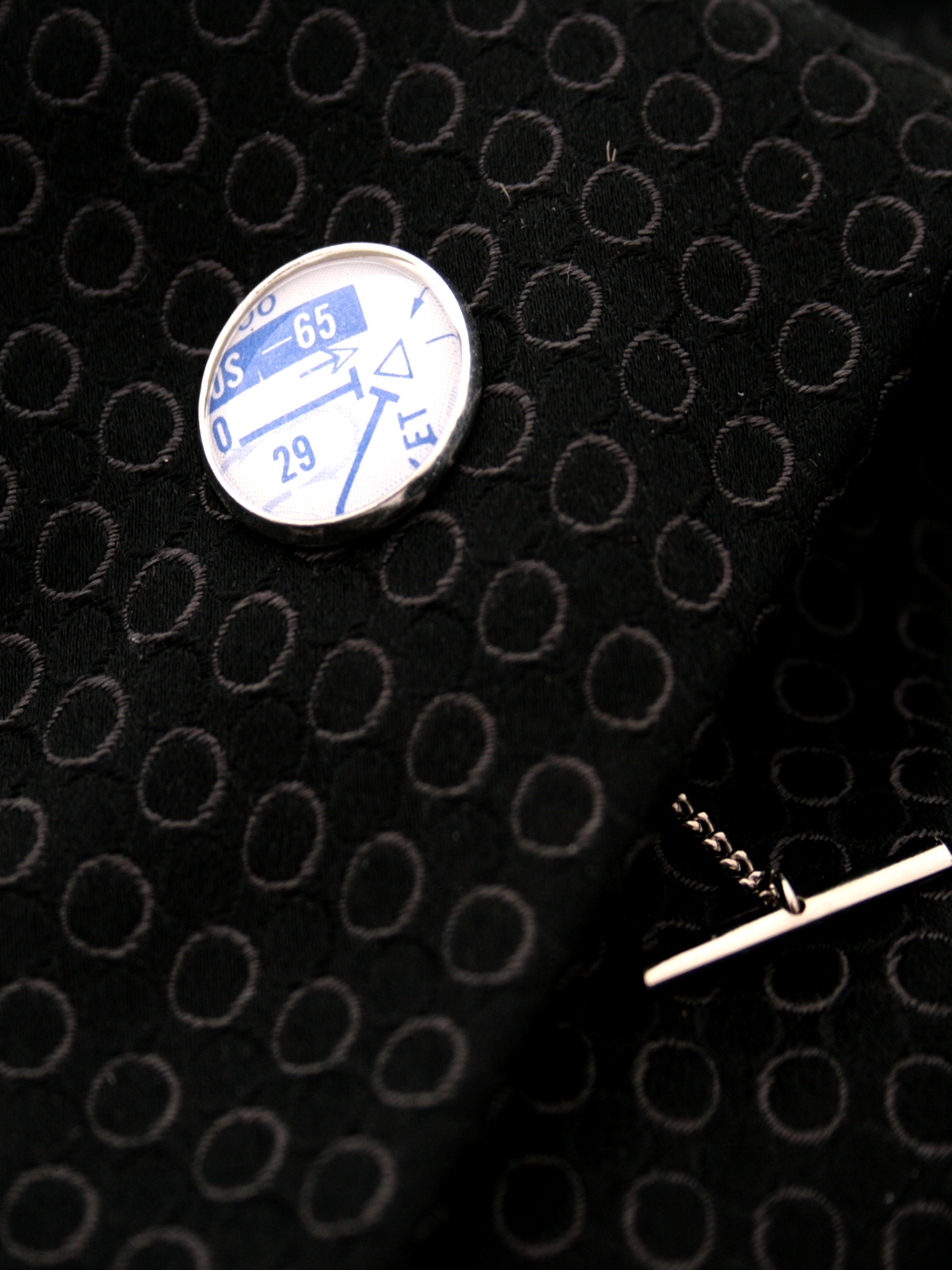 tie tack for a pilot made with real aviation charts of high altitude