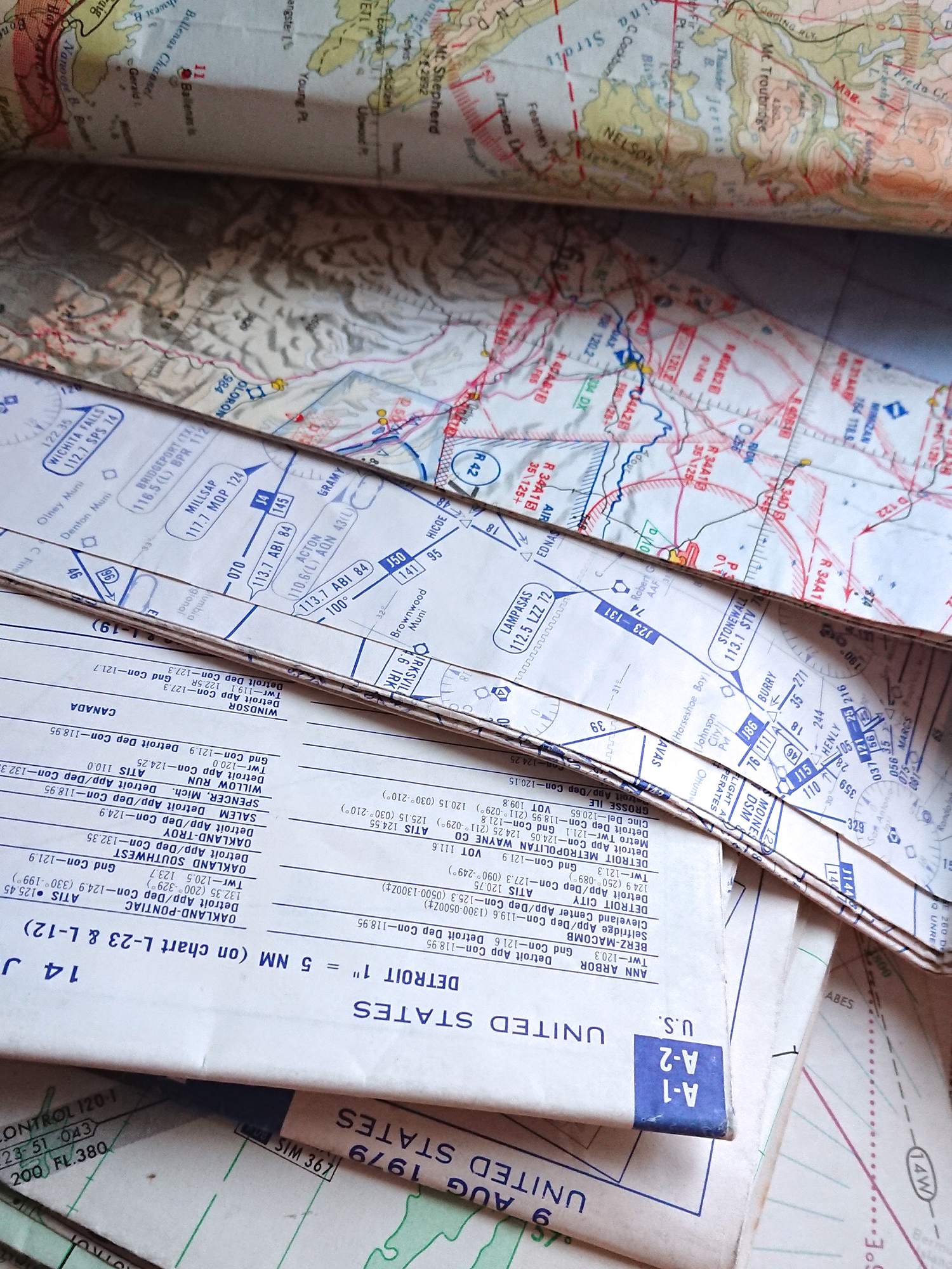 aviation charts of high altitude used for bespoke jewellery and cufflinks