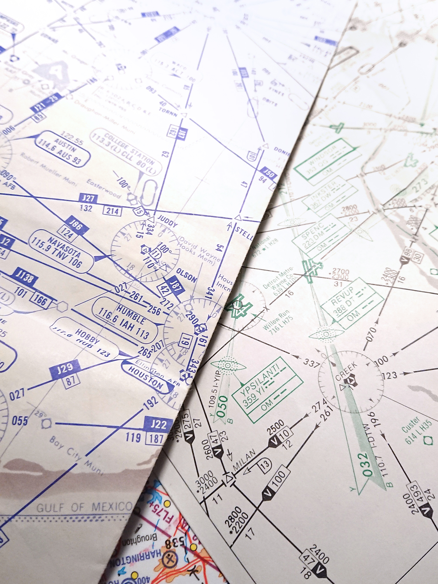pilots charts of high altitude