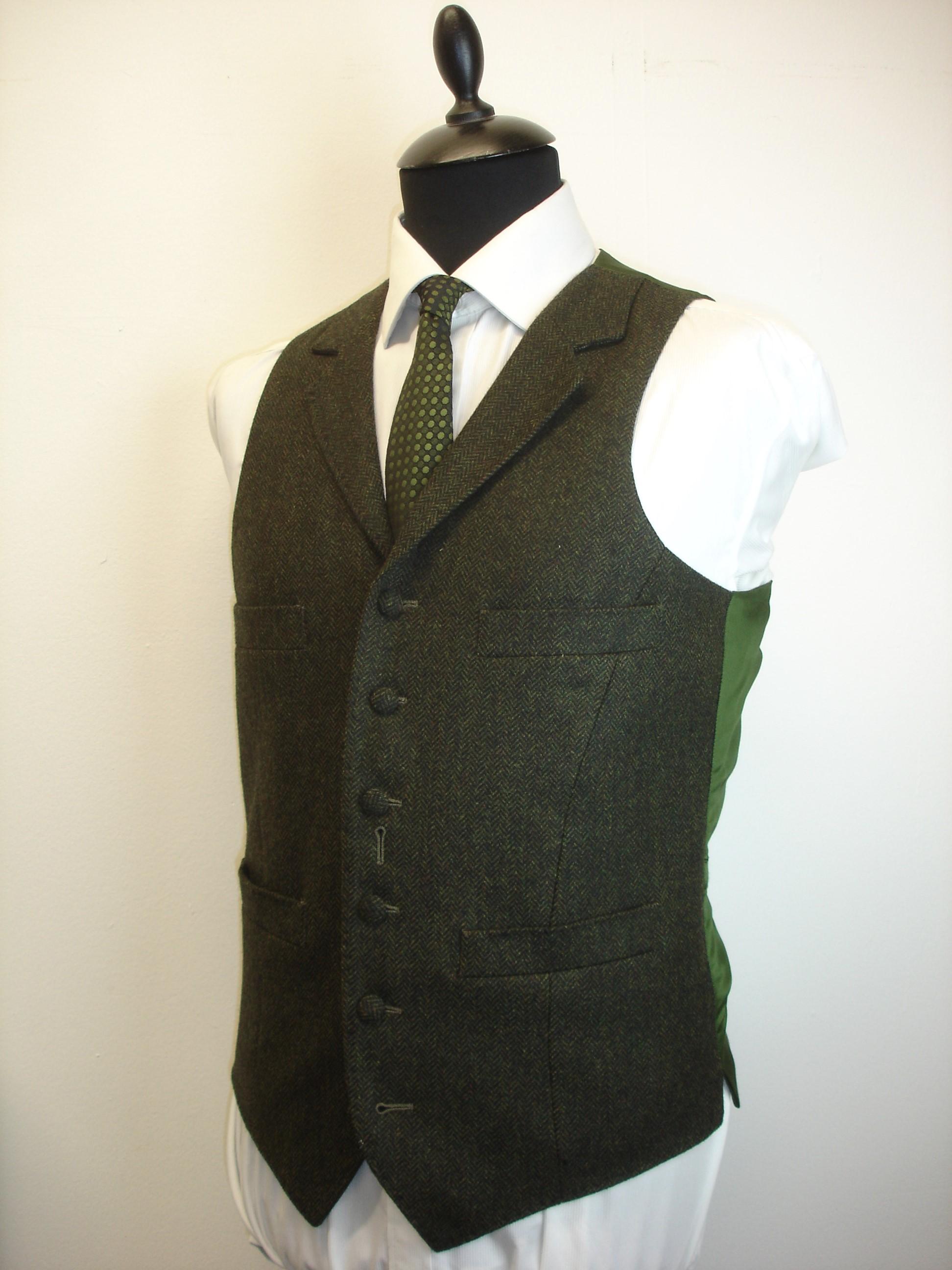 3 piece green lambswool herringbone tweed suit (3).JPG