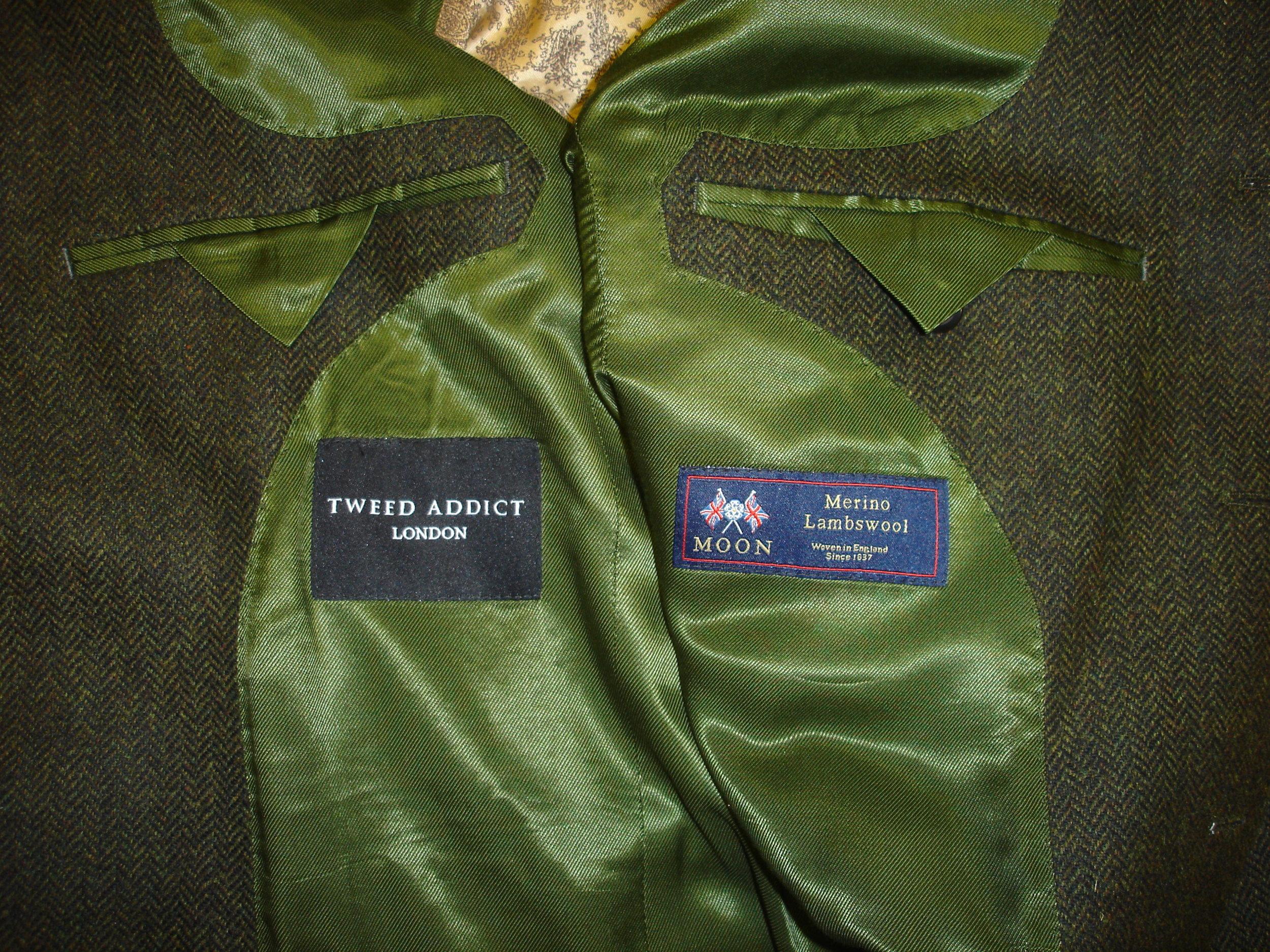 3 piece green lambswool herringbone tweed suit (12).JPG