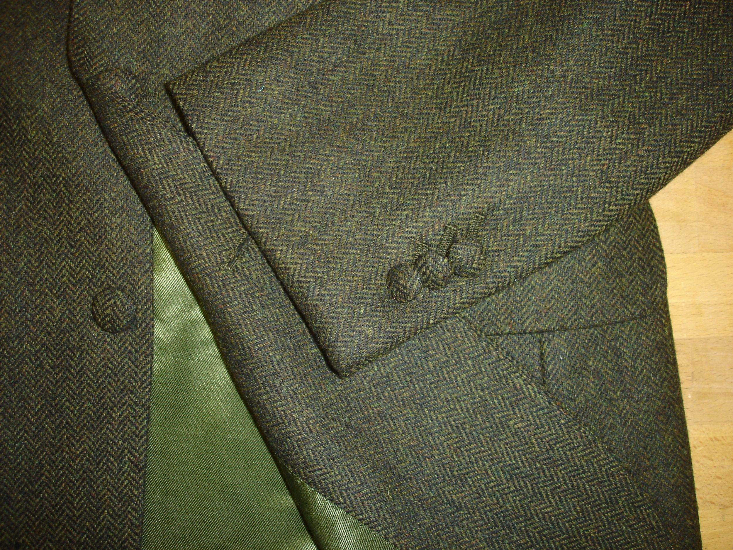 3 piece green lambswool herringbone tweed suit (13).JPG