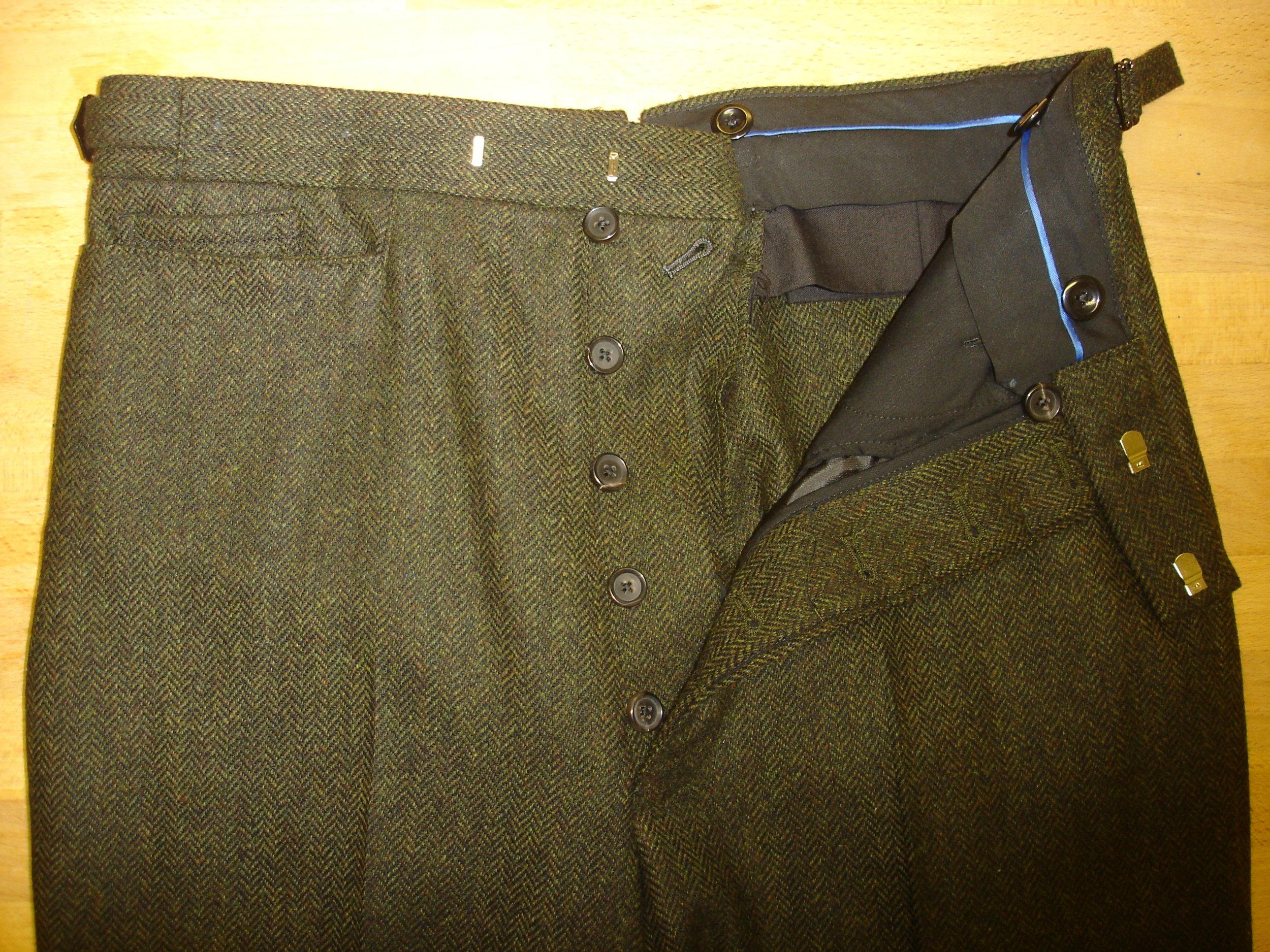3 piece green lambswool herringbone tweed suit (10).JPG