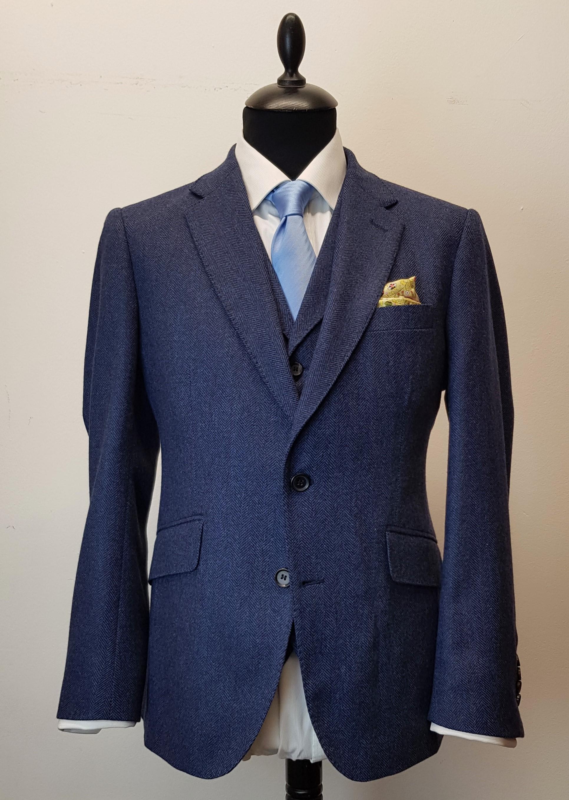 3 piece tweed suit in blue herringbone extra fine merino (3).jpg