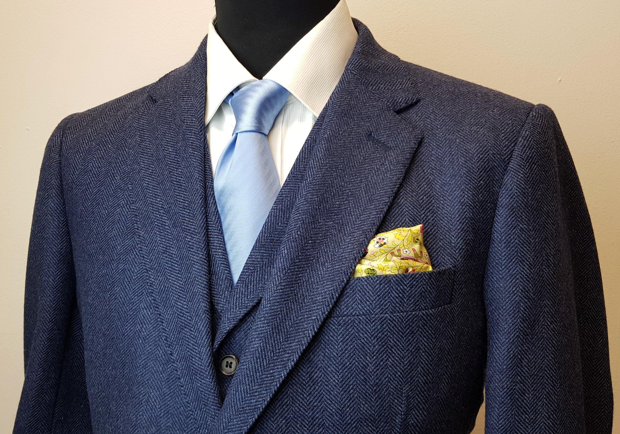 3 piece tweed suit in blue herringbone extra fine merino (6).jpg