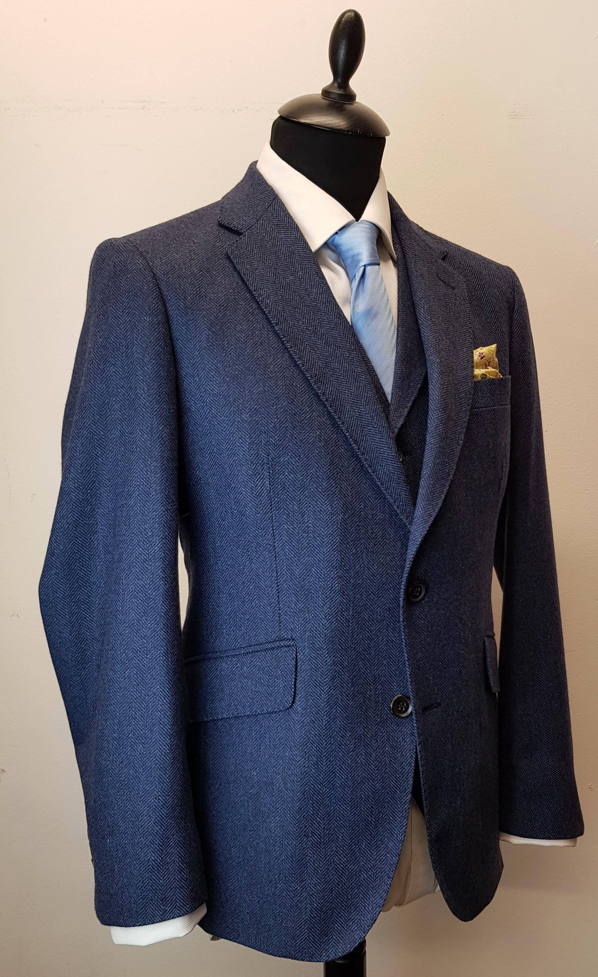 3 piece tweed suit in blue herringbone extra fine merino (7).jpg