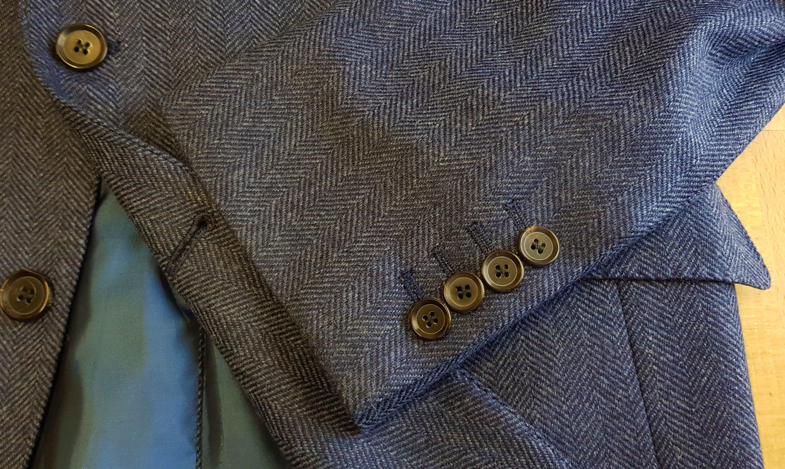 3 piece tweed suit in blue herringbone extra fine merino (11).jpg