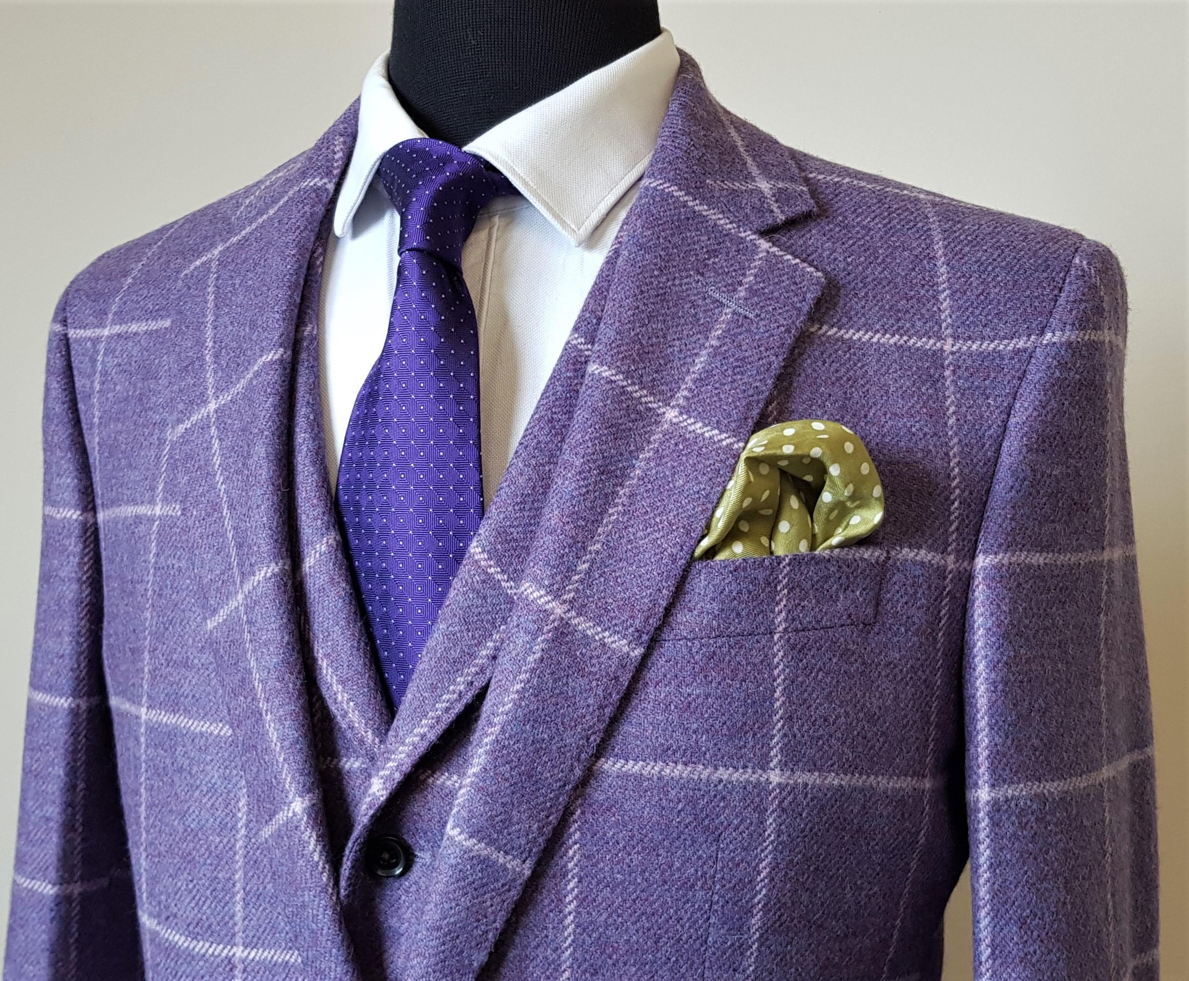 3 Piece Purple Check Tweed Suit (5).jpg