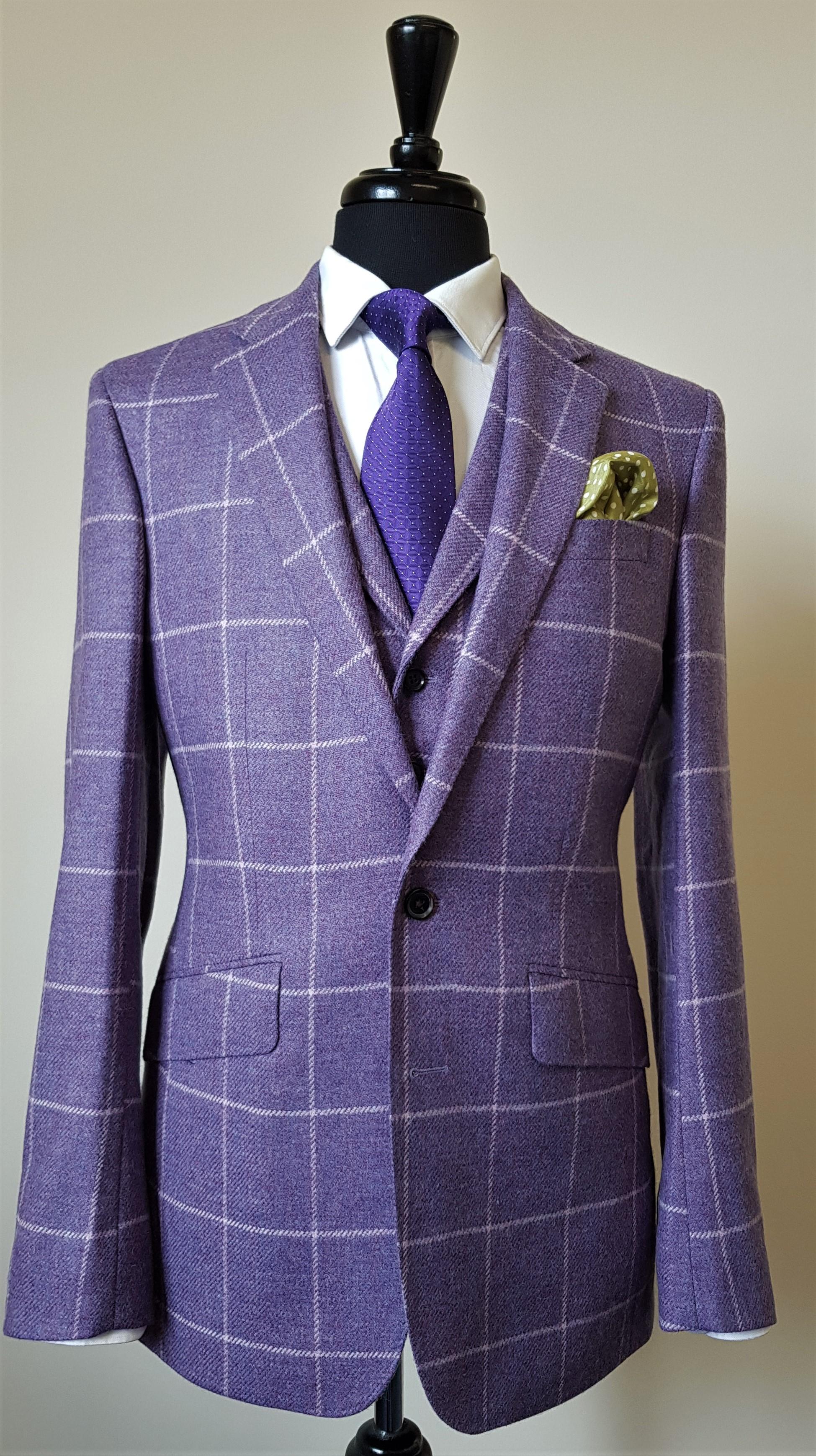 3 Piece Purple Check Tweed Suit (3).jpg