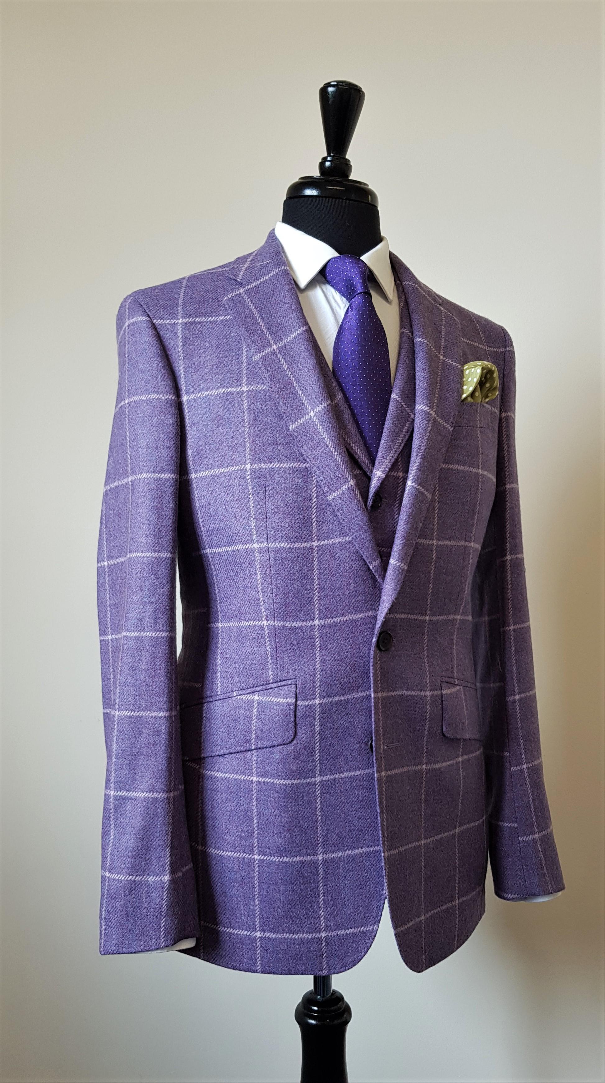 3 Piece Purple Check Tweed Suit (7).jpg