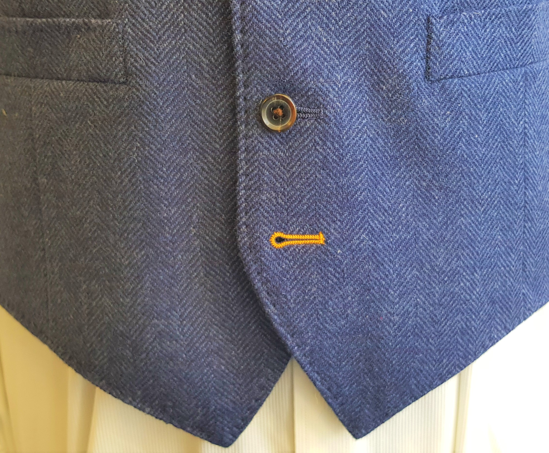 Blue Merino Herringbone 3 Piece Tweed Suit (11).jpg