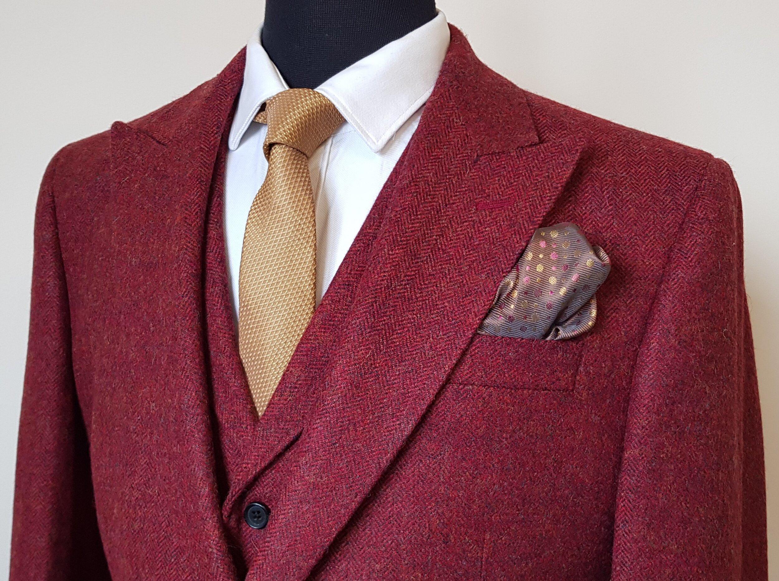 Raspberry Herringbone 3 Piece Tweed Suit (7).jpg