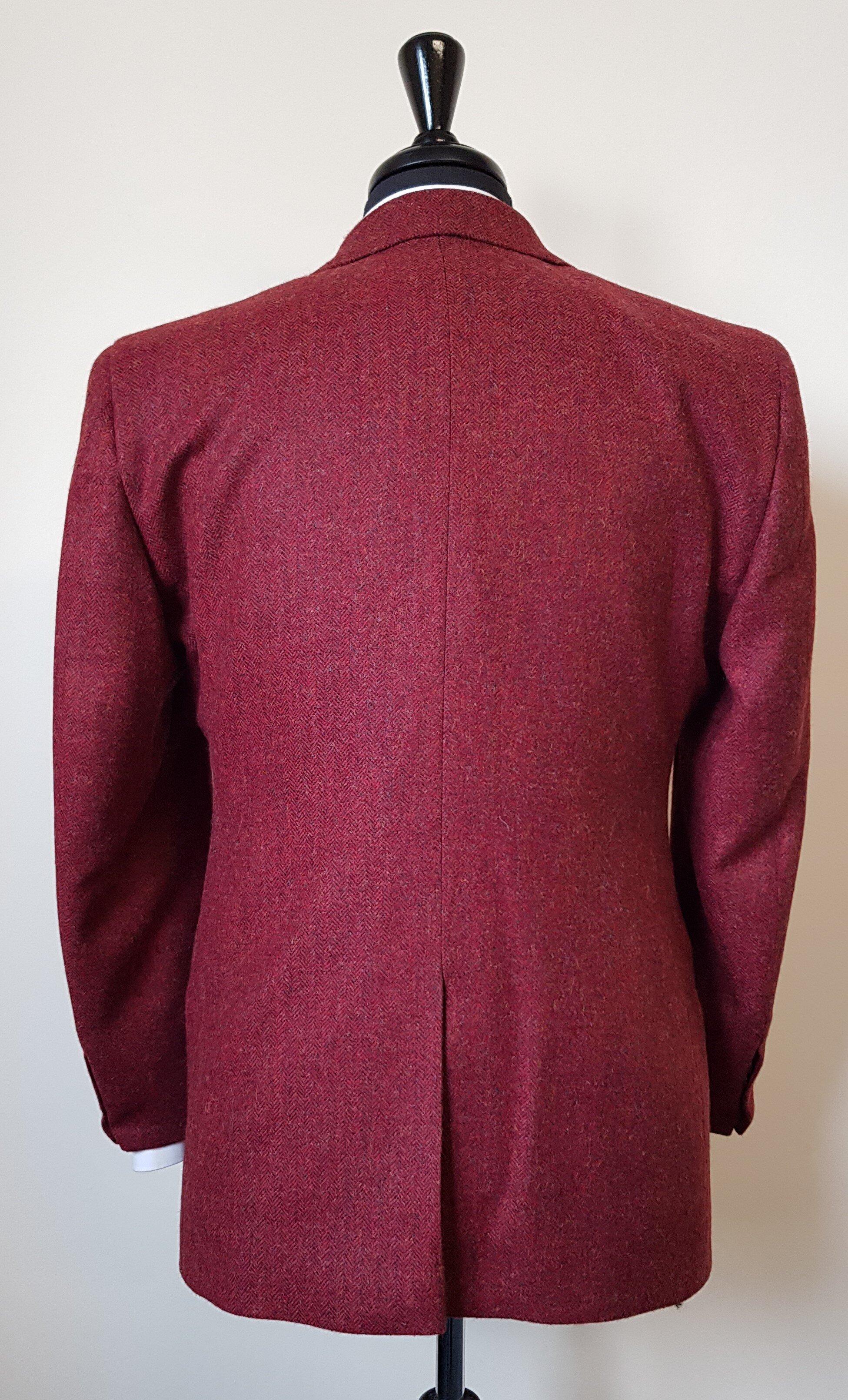 Raspberry Herringbone 3 Piece Tweed Suit (11).jpg