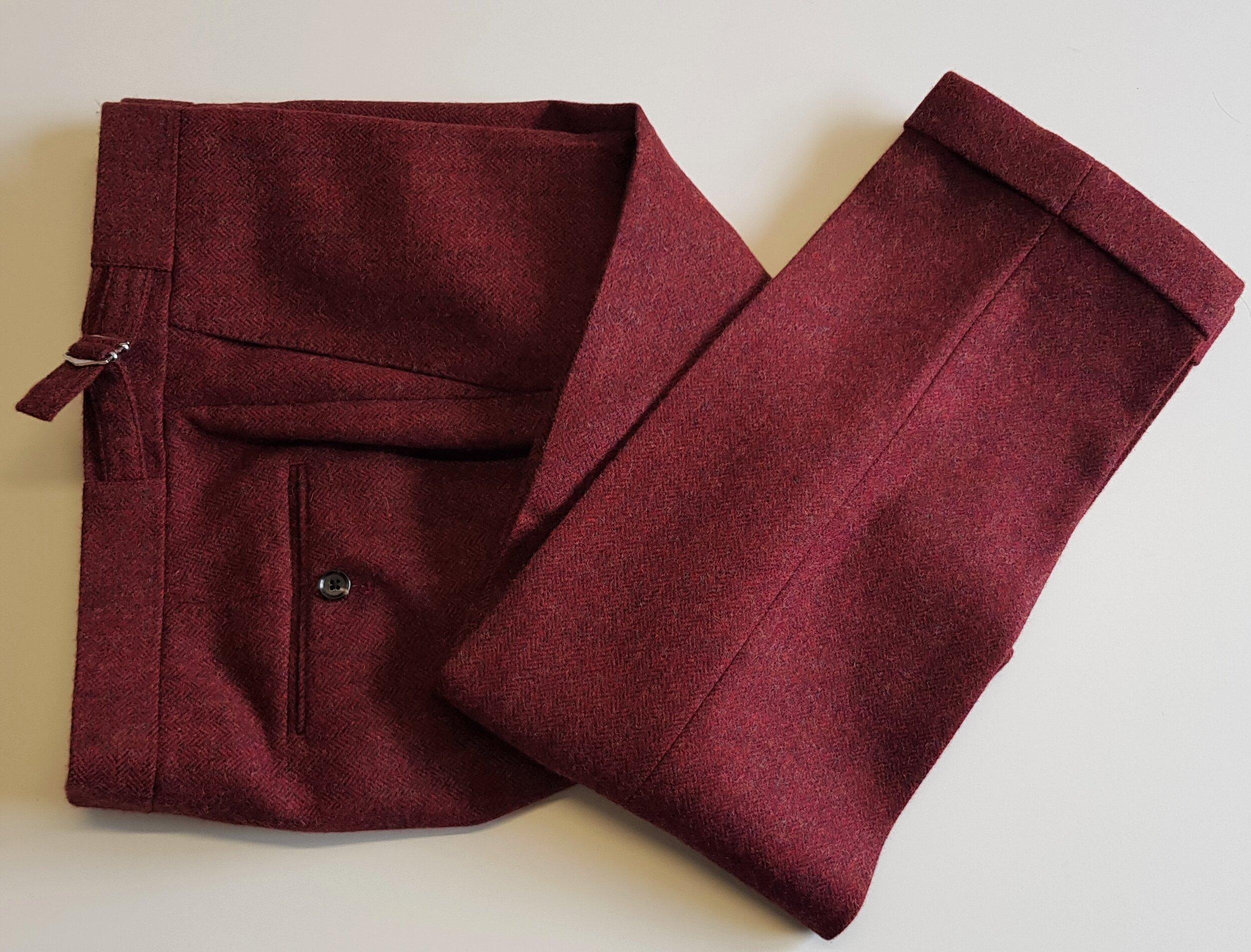 Raspberry Herringbone 3 Piece Tweed Suit (14).jpg