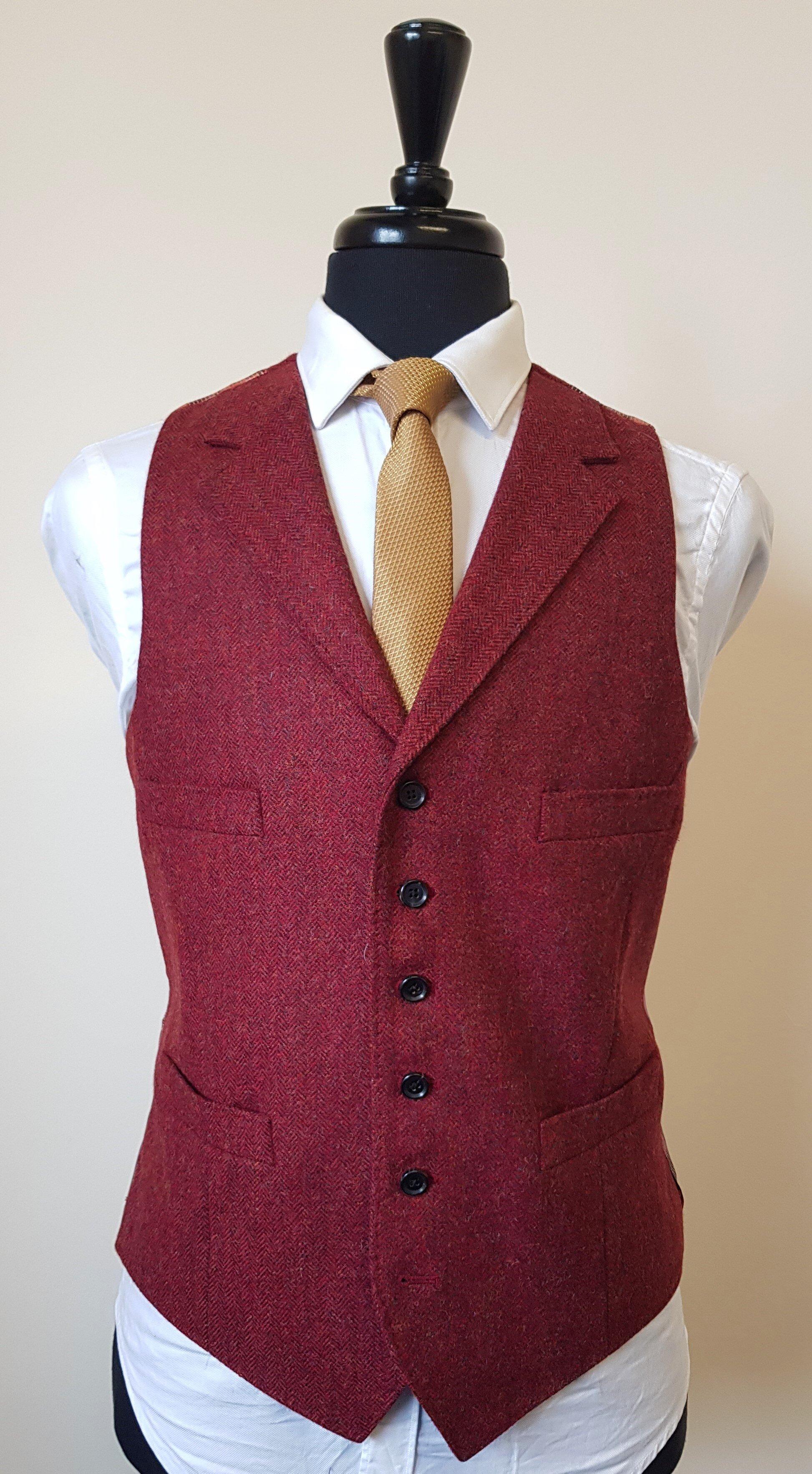Raspberry Herringbone 3 Piece Tweed Suit (22).jpg