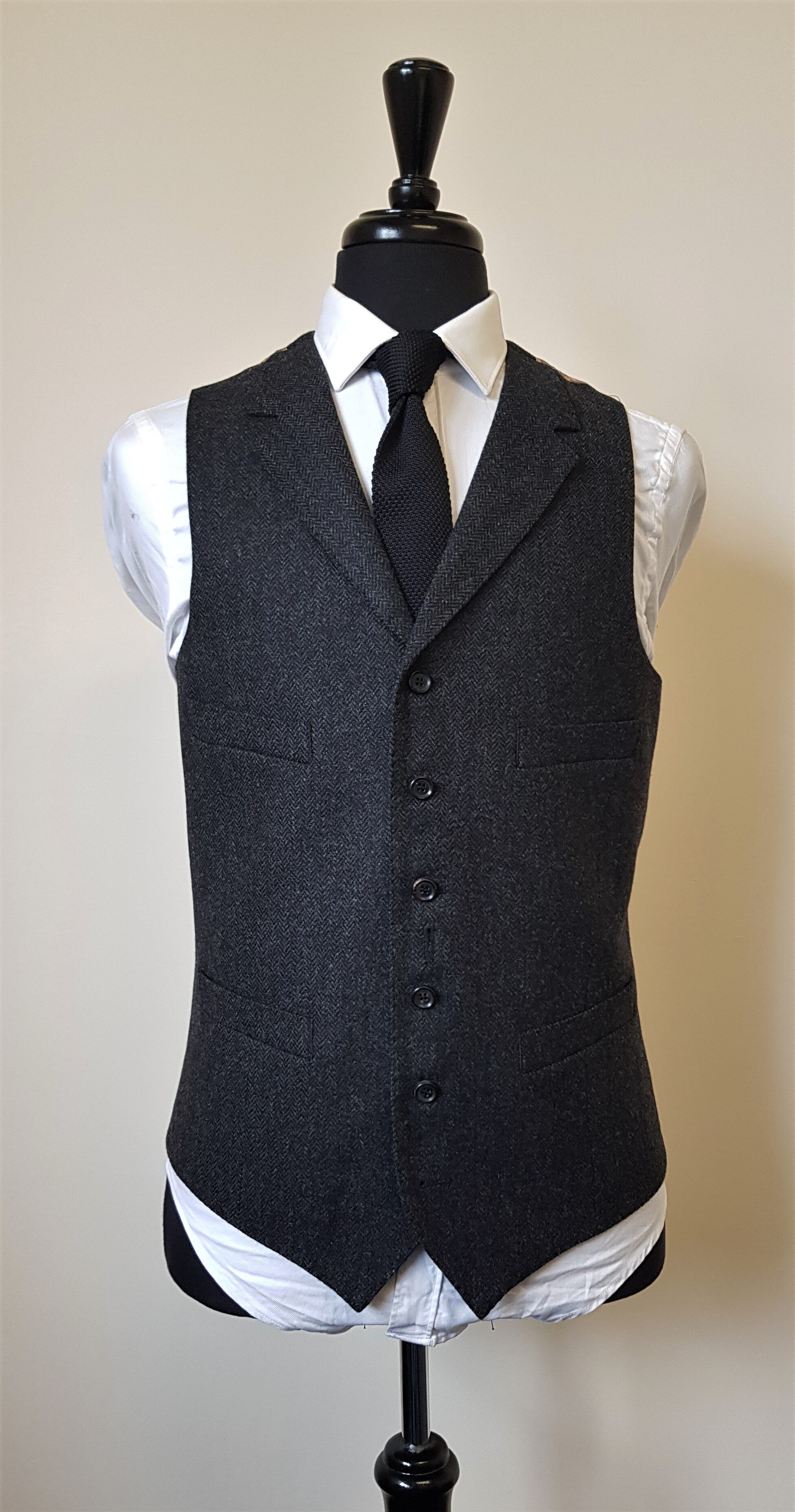 Charcoal Herringbone 3 piece Tweed Suit (2).jpg