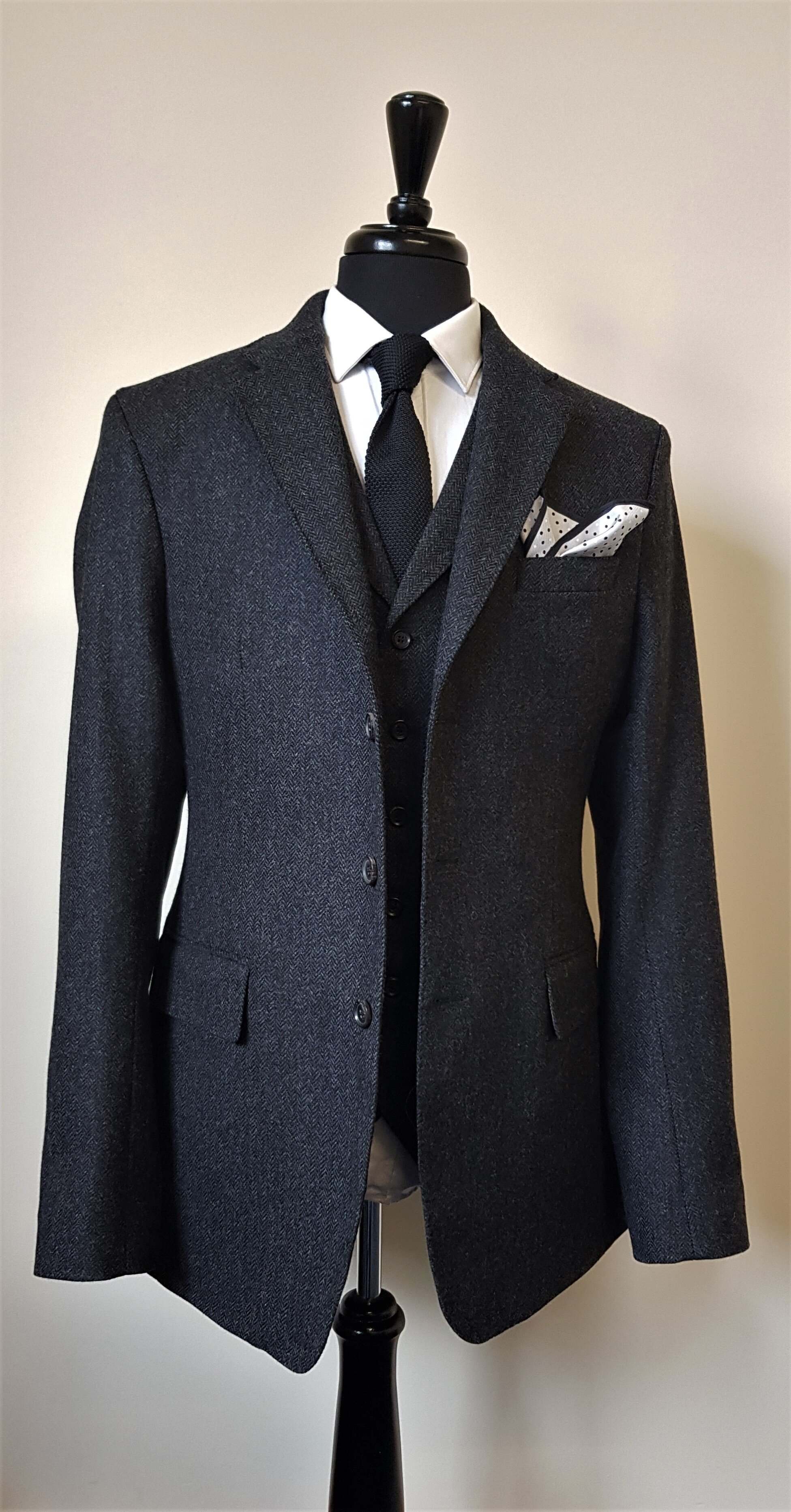 Charcoal Herringbone 3 piece Tweed Suit (4).jpg