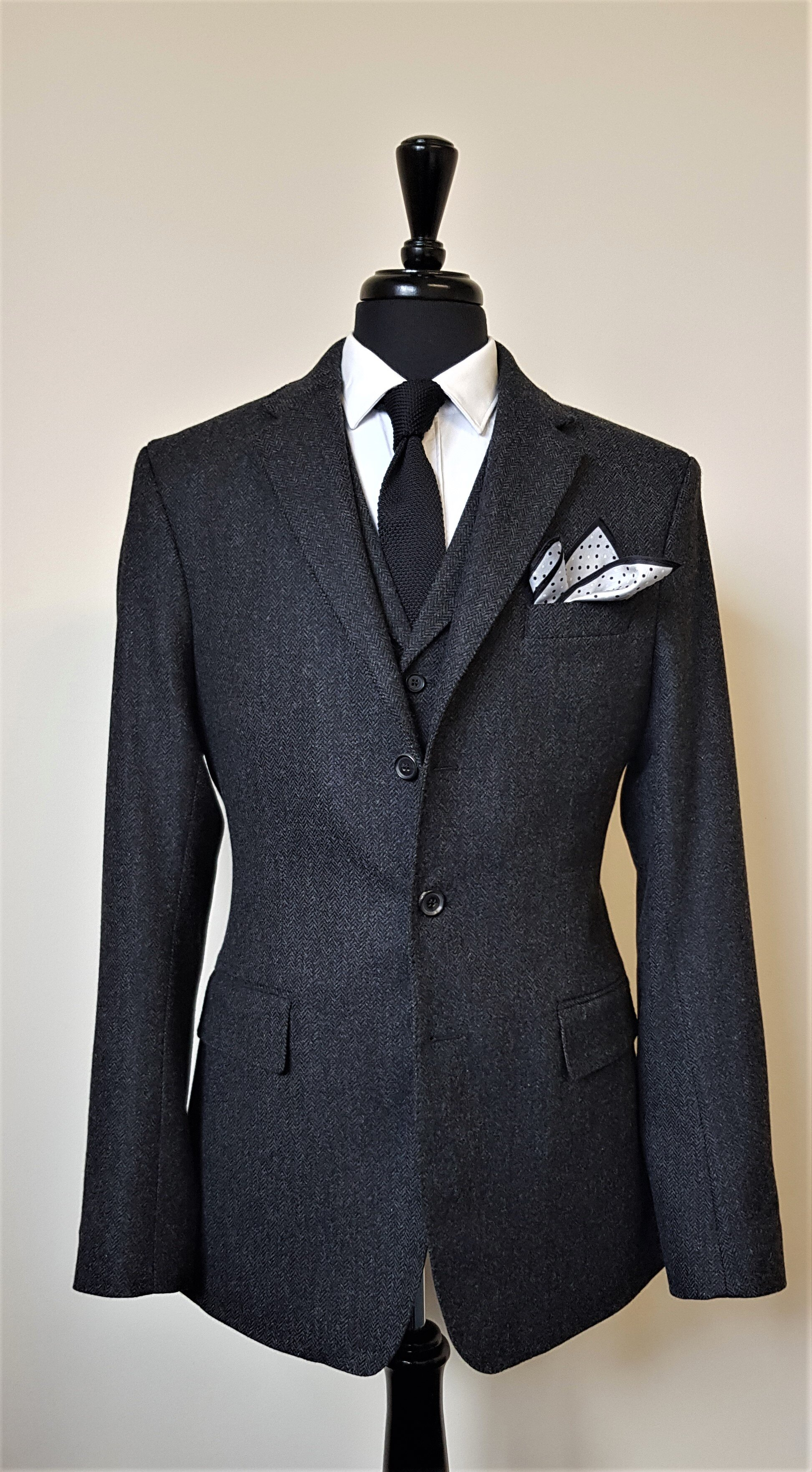 Charcoal Herringbone 3 piece Tweed Suit (5).jpg