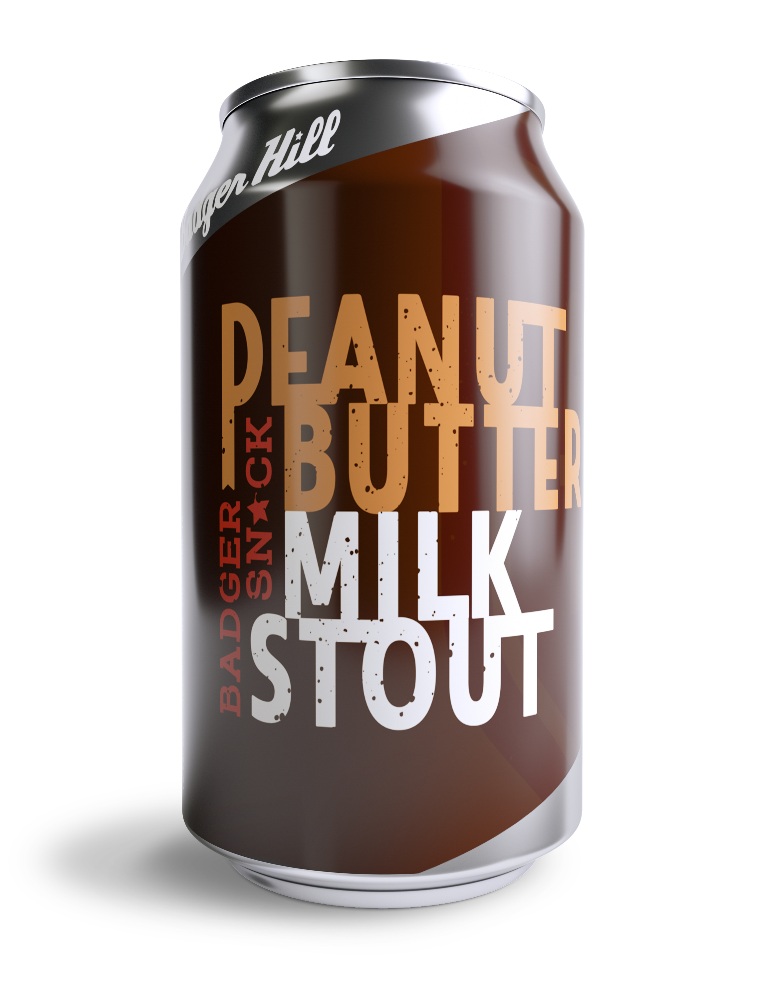 Badger snack peanut butter stout - 6.3% ABV * 13 IBUA blend of roasted malts, flaked oats, flaked barley and milk sugar make for creamy chocolaty base to this peanut butter powered snack. A treat for badgers and beer drinkers alike.AVAILABLE: Draft and 6-Packs