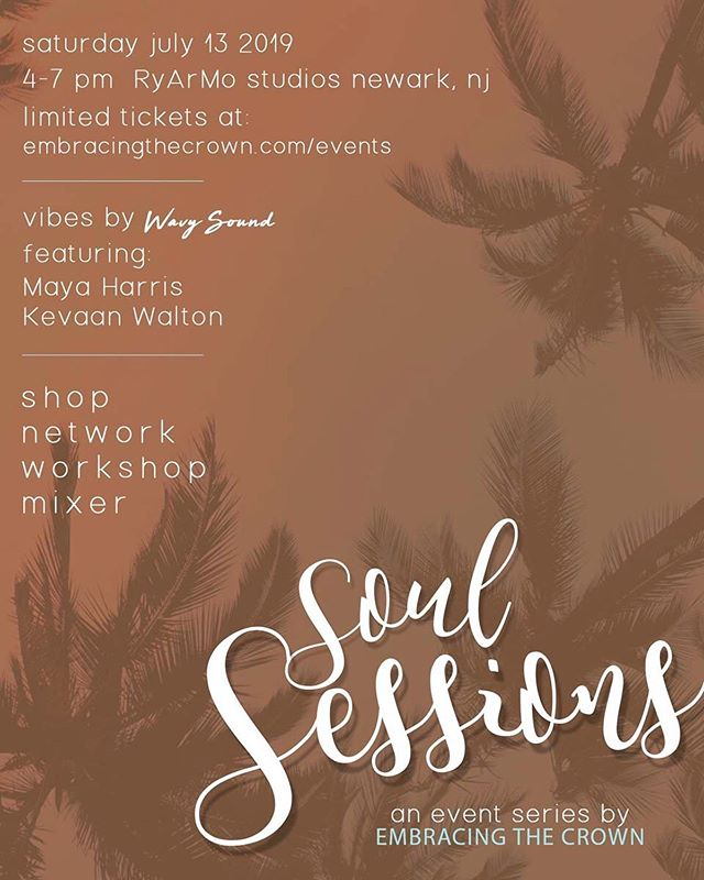 ONLY 2 WEEKS AWAY 🥳  Join us for our Soul Sessions Summer mixer. All our invited as we come together to network, vibe, and get into some real talk. Tickets are moving, get yours at the link in our bio 💕
