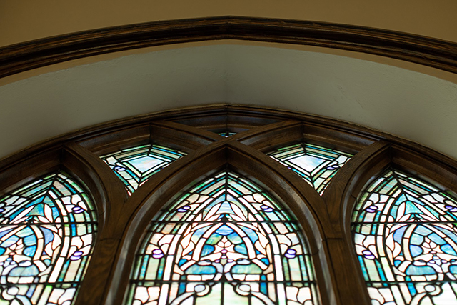 restored stain glass windows