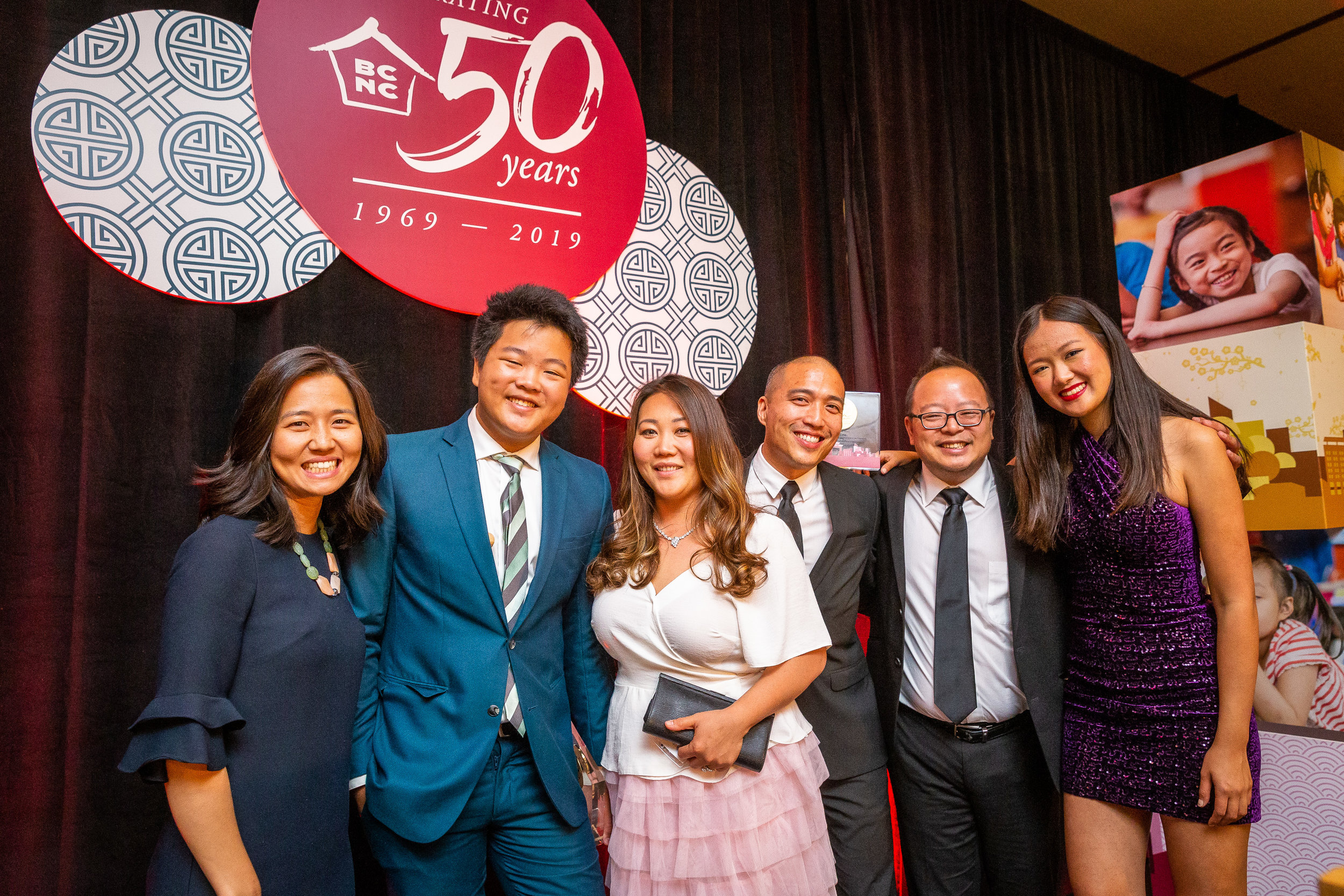 From left to right: Michelle Wu, Hudson Yang, Sopheak Tek, Giles Li, Jeff Yang, Katherine Ho