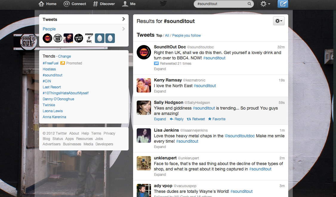 Sound It Out trending on twitter