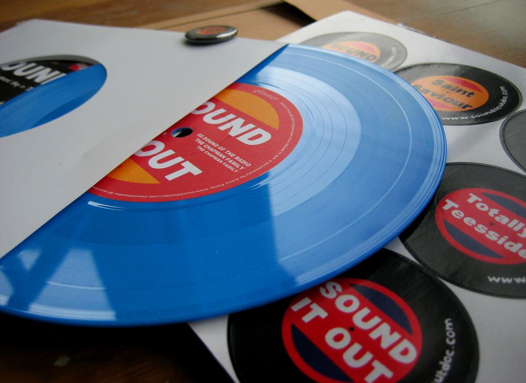 LTD edition soundtrack EP in baby blue