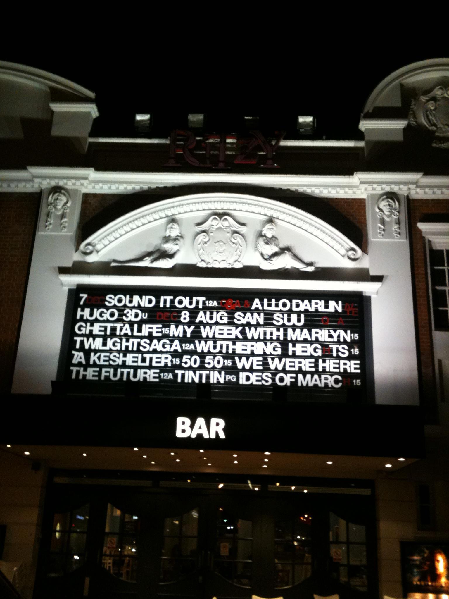 Screening at Brixton Ritzy with Allo Darlin' live