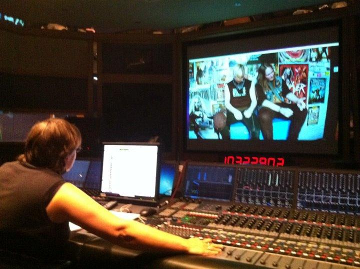 Pip Norton mixing the film at Air Studios