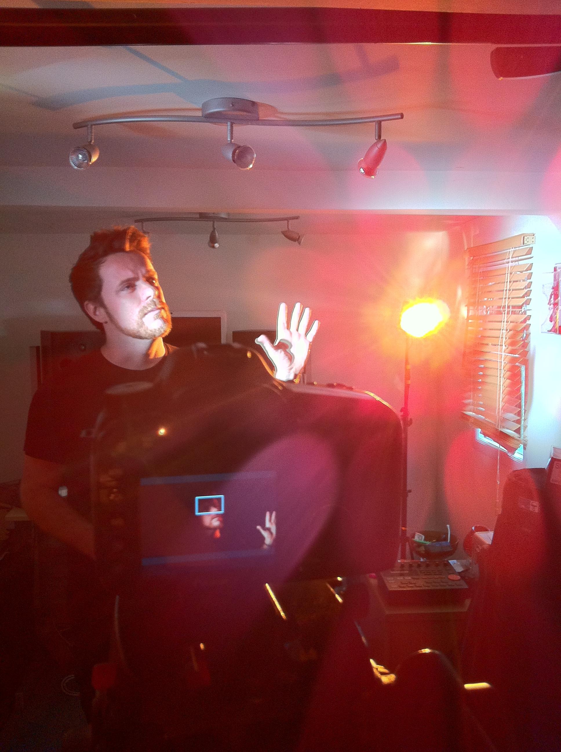 Filming Gavin's rap