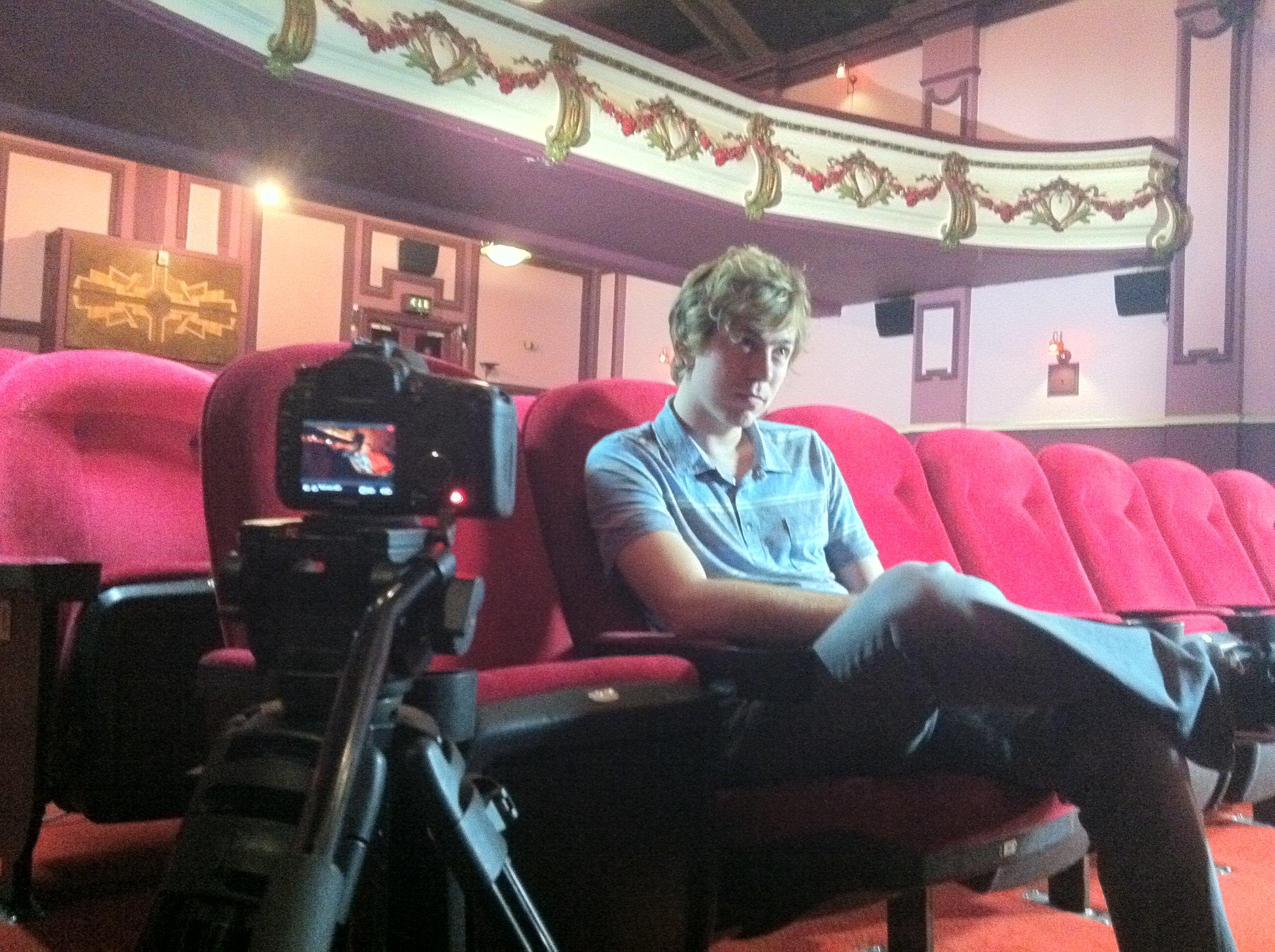 Filming James in Leeds