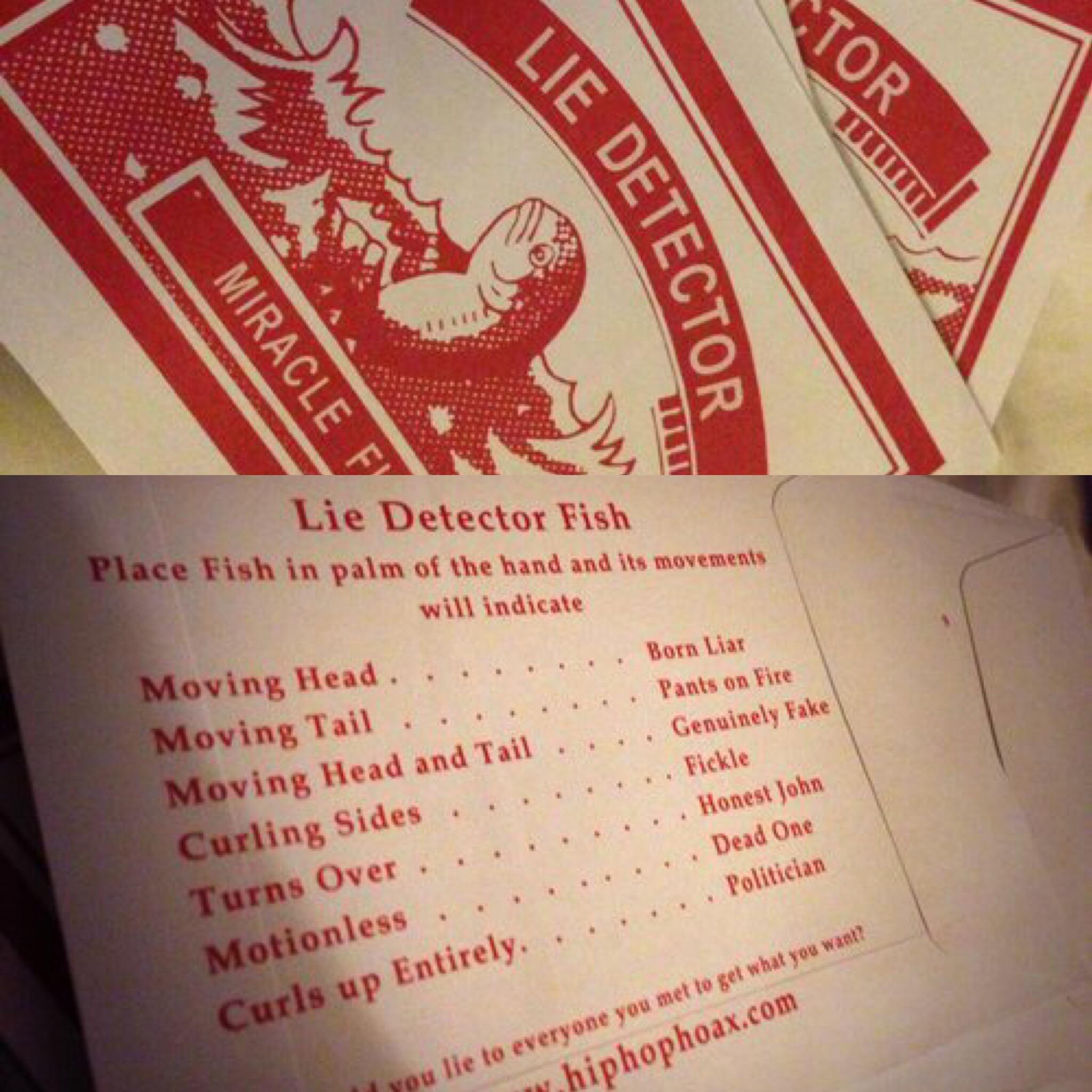 LTD edition multiple Lie Detector Fish