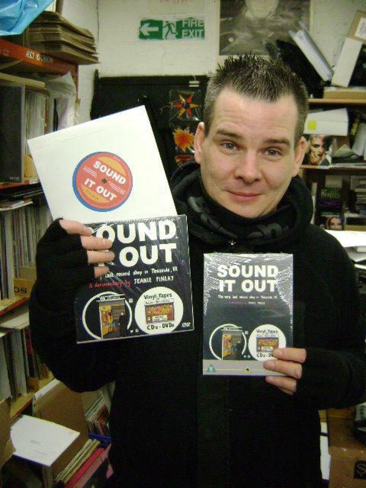 Tom with both pressings of the DVD