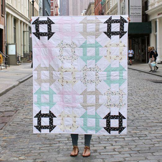Mount Snow Churn Dash - Tutorial for Dear Stella Fabrics