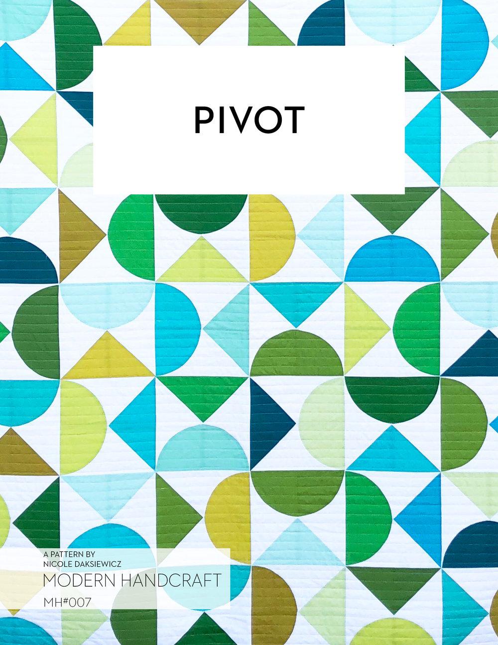 Pivot Quilt Pdf Pattern Modern Handcraft