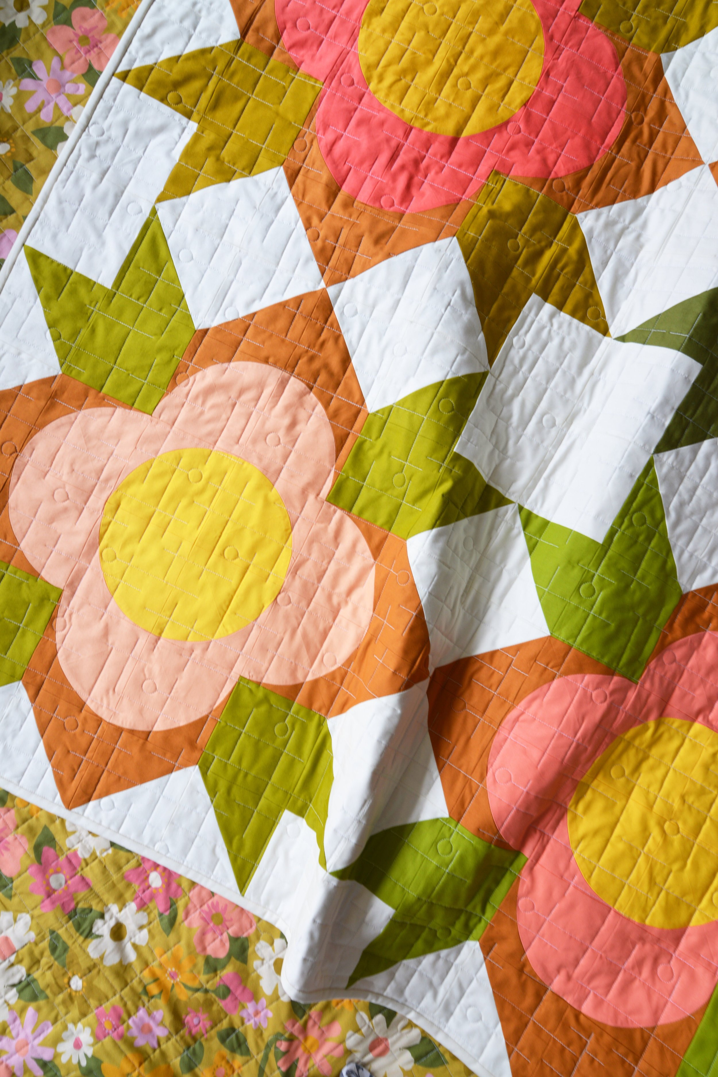 Special thanks to Paintbrush Studio Fabrics for sponsoring the fabric I used on my cover quilt - I fell in love with the Painter's Palette Solids and the backing which is a new line coming soon from A Beautiful Mess called Flower Market.