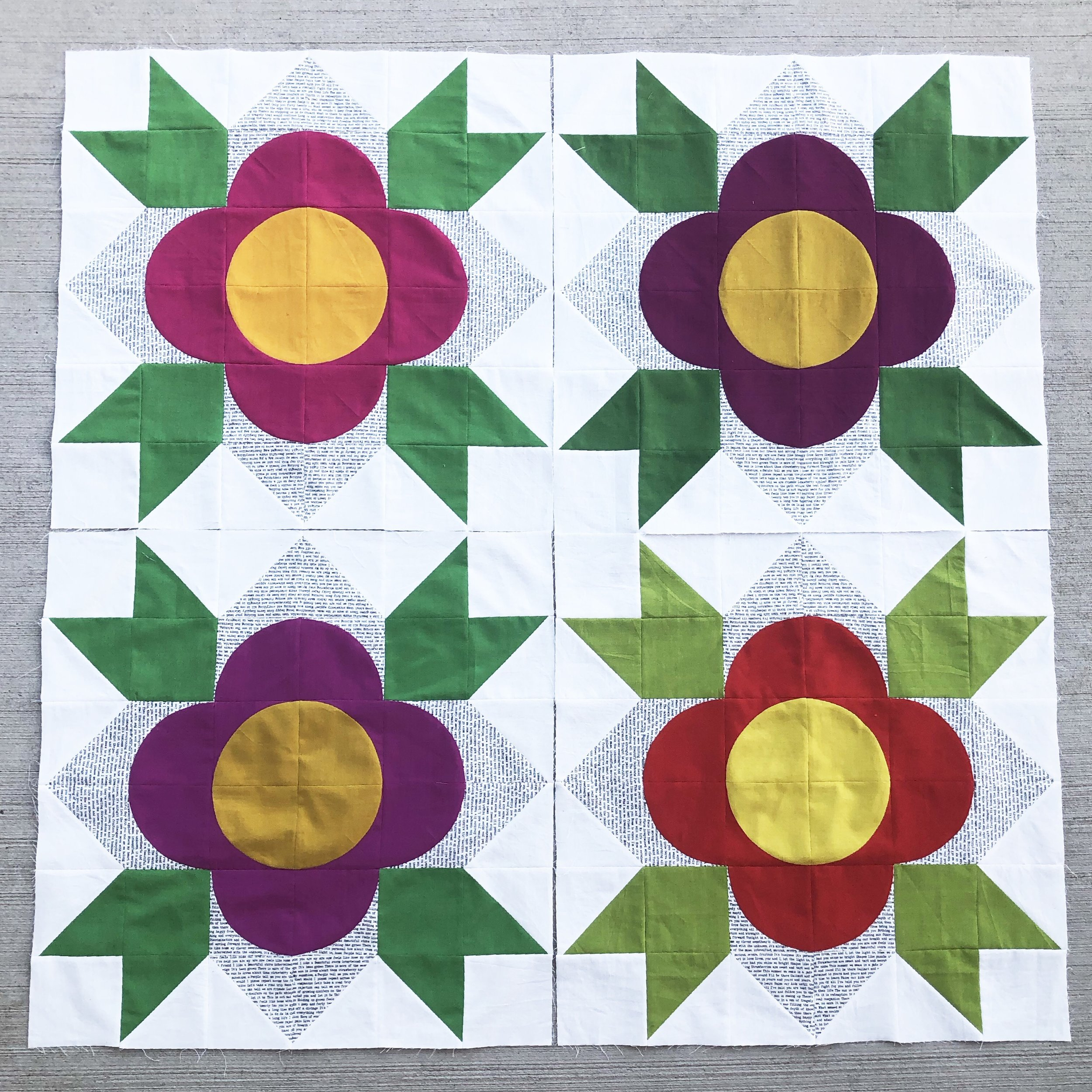 Flower Shop QAL Week 3 - Blocks 3 & 4 — Modern Handcraft