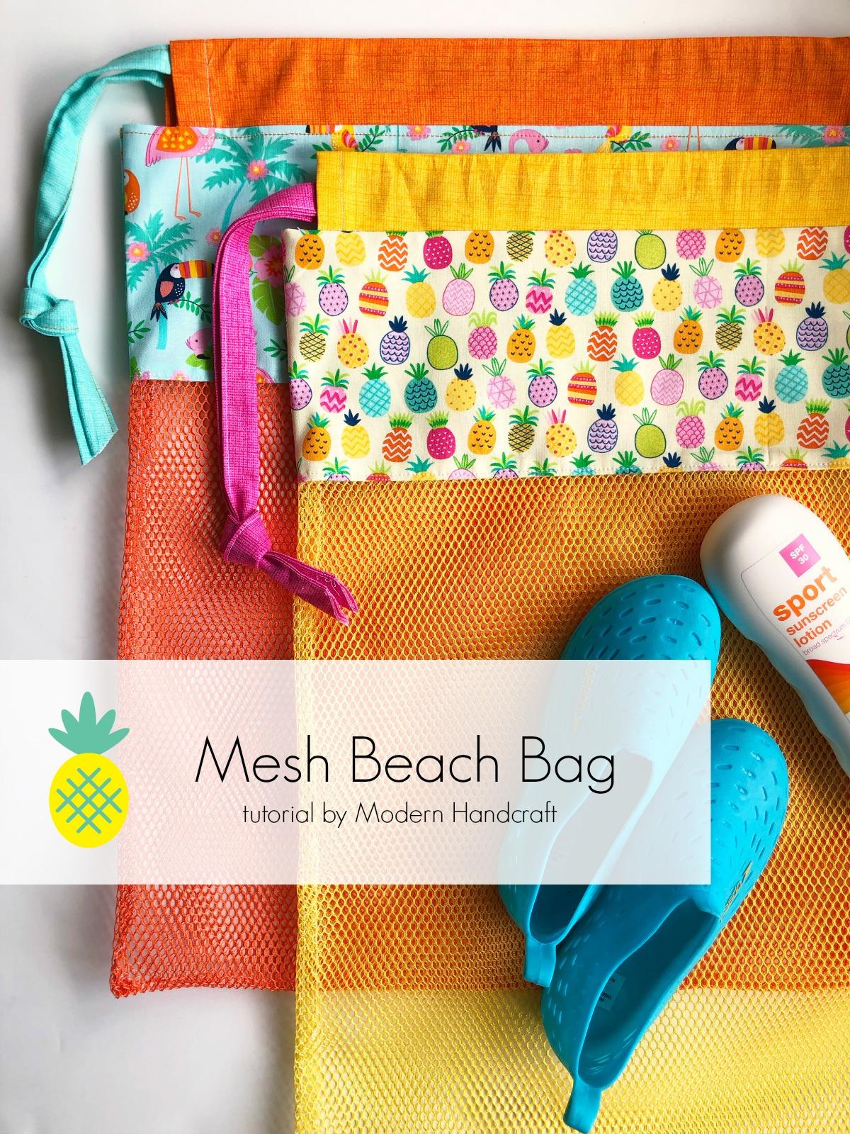 Mesh Beach Bag - tutorial for Timeless Treasures