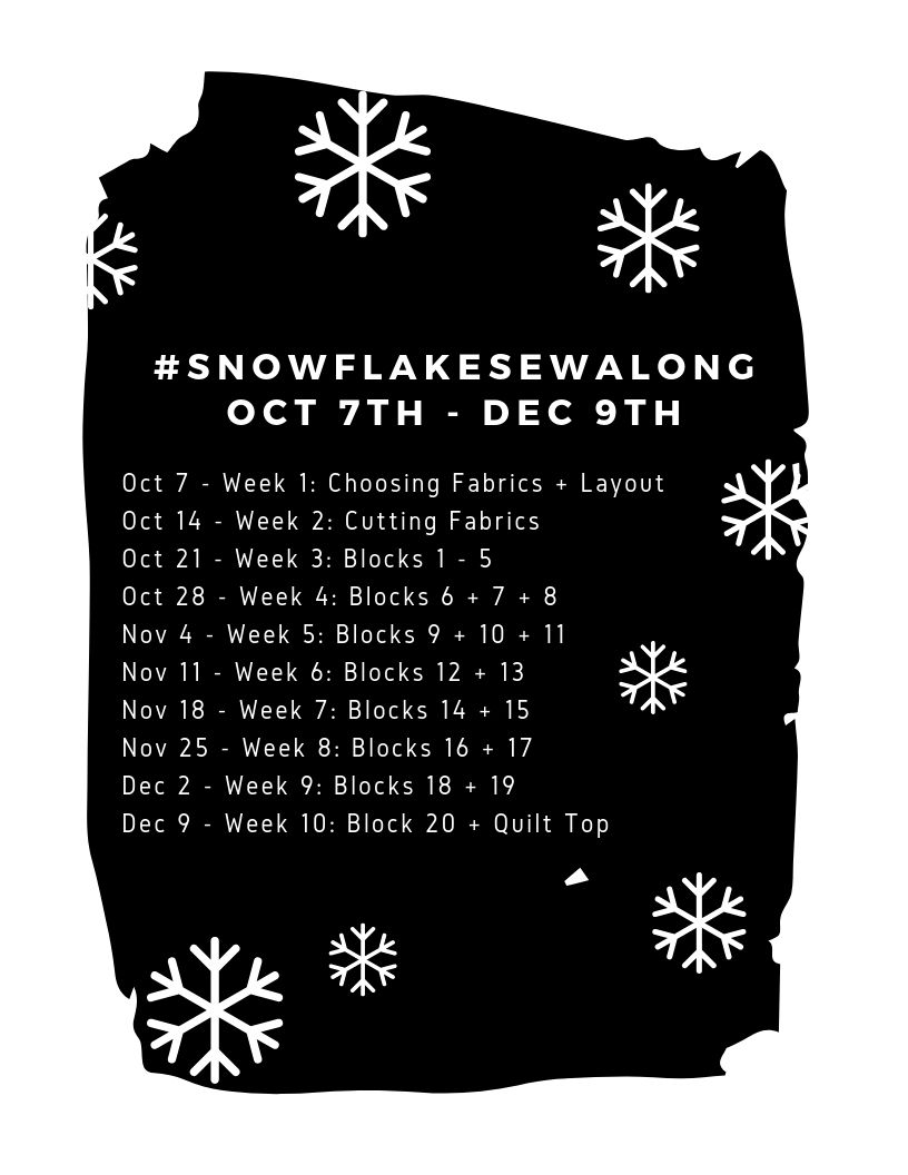 Modern Handcraft Snowflake Sew Along