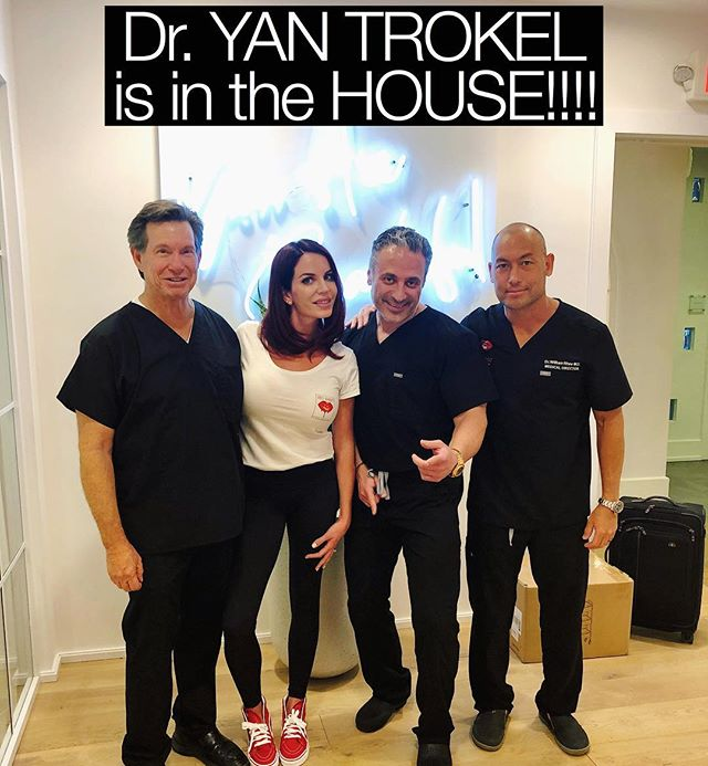 DR. YAN TROKEL is in the house!  He is a LEGIT injector and his approach is mind blowing, like nothing I've ever seen.  NO ONE injects the way he does! (He injects all the Victoria's Secret Models as well as all the top Models in Manhattan). He is my new bestie and he is going to train me to be one of his trainers, I cannot wait to fulfill that honor.  Today's training was hands down the best training I've ever had in my entire life and I am so excited for day two tomorrow!!!! @yliftcenter