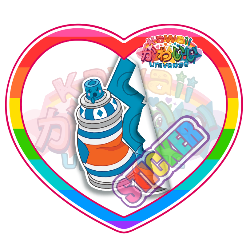 Kawaii Universe - Cute Blue Spray Paint Can Sticker