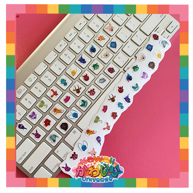 Kawaii Universe - Cute Keyboard Animals A to Z Sticker Set